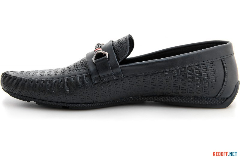 Men's moccasins Forester 8124-27 Black premium leather