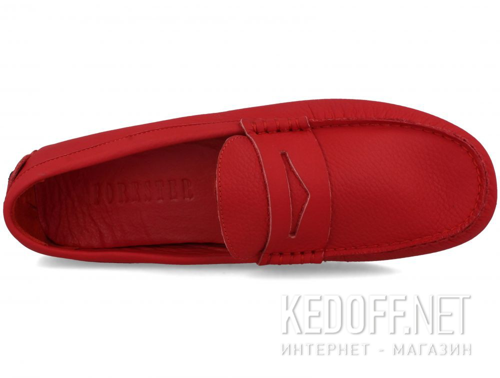 Мужские мокасины Forester Red Leather Tods 5103-47 описание