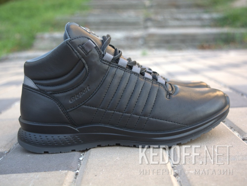 Mens sneakers low boots grisport 42813D9 (black) все размеры