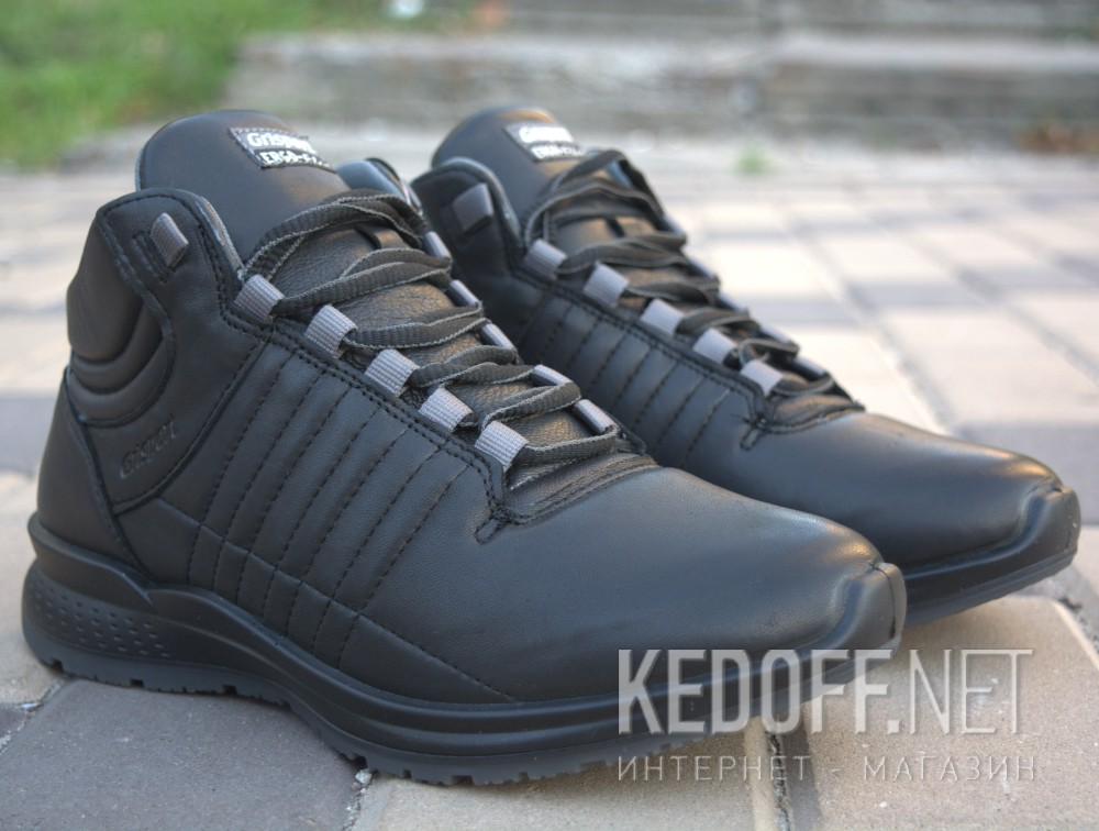 Mens sneakers low boots grisport 42813D9 (black) описание