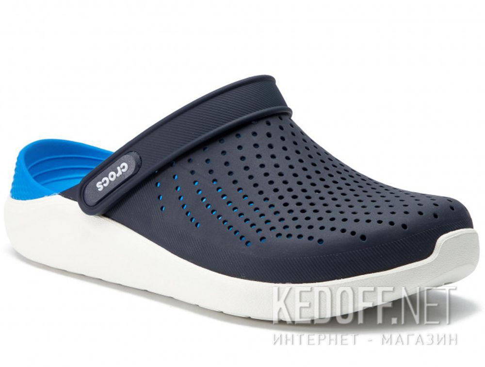 Цены на Мужские сандалии Crocs Literide Clog 204592- 462 Navy/White