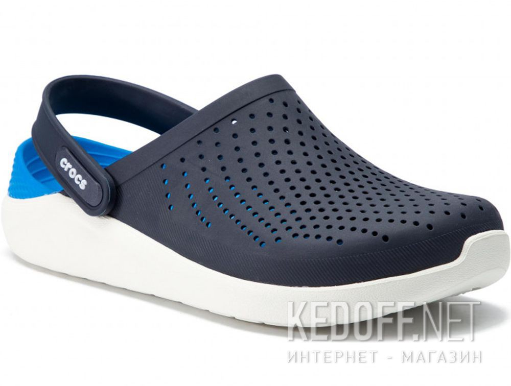 Купить Мужские сандалии Crocs Literide Clog 204592- 462 Navy/White
