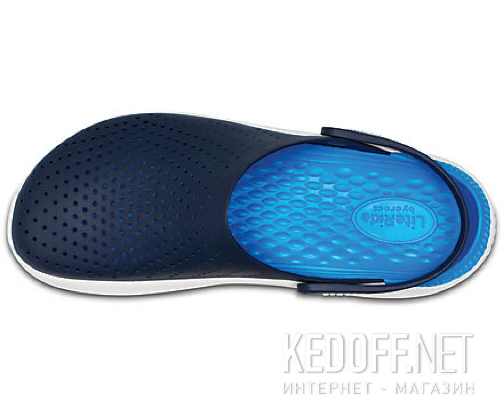 Оригинальные Мужские сандалии Crocs Literide Clog 204592- 462 Navy/White