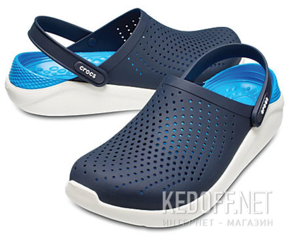 Мужские сандалии Crocs Literide Clog 204592- 462 Navy/White все размеры
