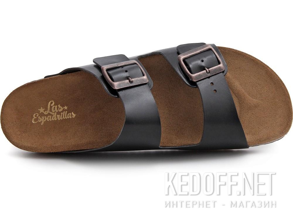 Оригинальные Мужские сандалии Las Espadrillas 06-0189-001   (чёрный)