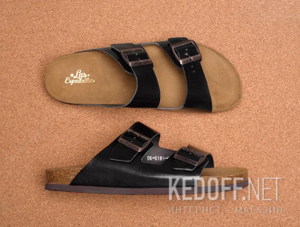 Мужская ортопедическая обувь Las Espadrillas 06-0189-001   (чёрный) описание