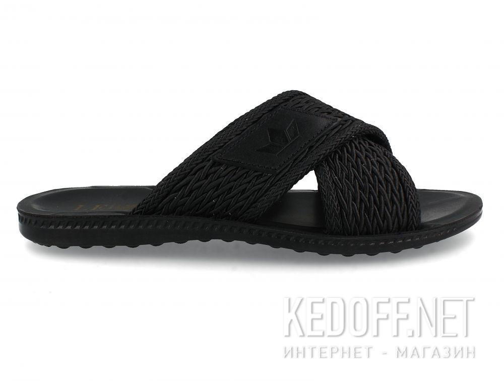 Мужские шлепанцы Las Espadrillas Black Knights T021-2727 купить Украина