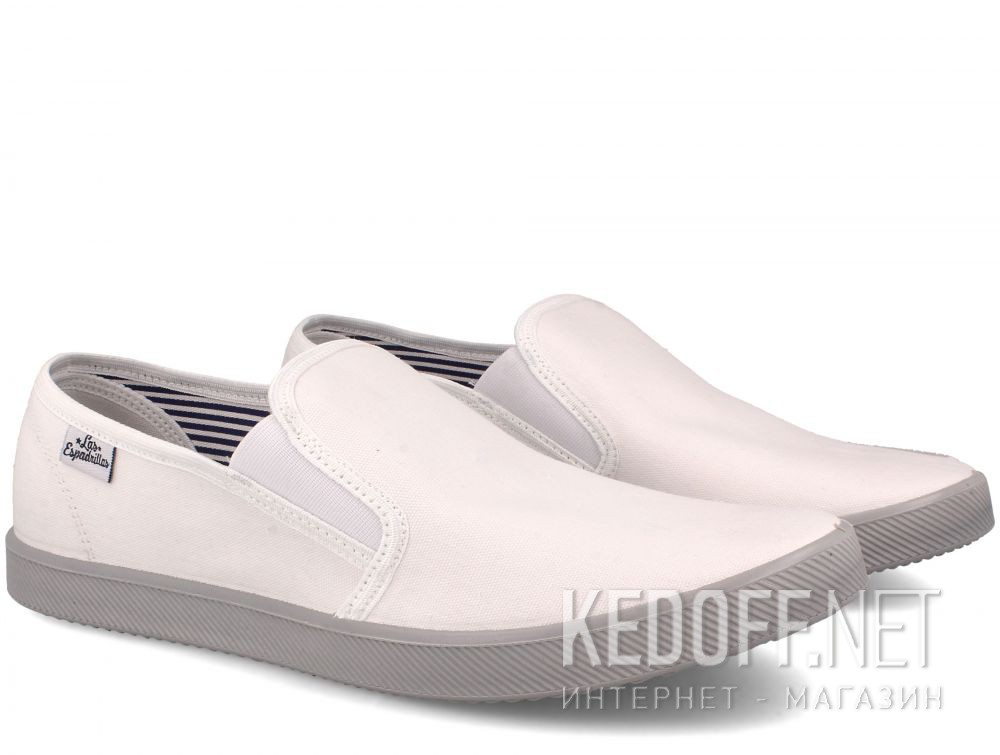 Мужские слипоны Las Espadrillas Eco Soft 6088-13 Lacoste White купить Украина