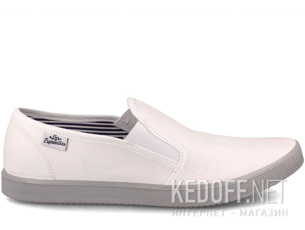 Мужские слипоны Las Espadrillas Eco Soft 6088-13 Lacoste White купить Киев