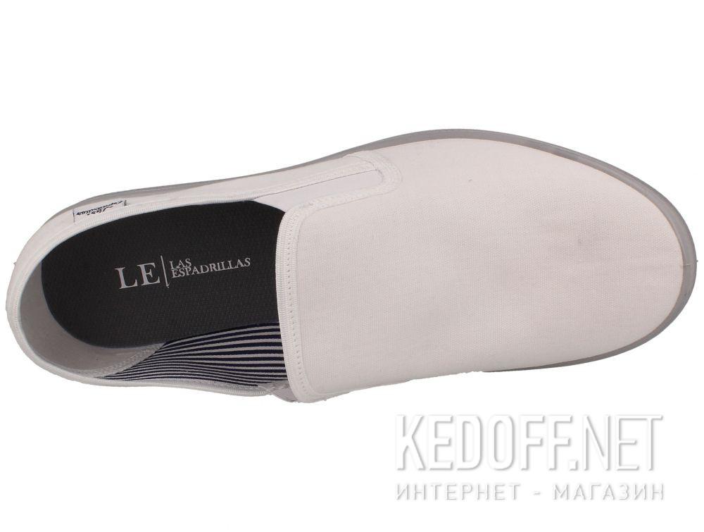 Мужские слипоны Las Espadrillas Eco Soft 6088-13 Lacoste White описание