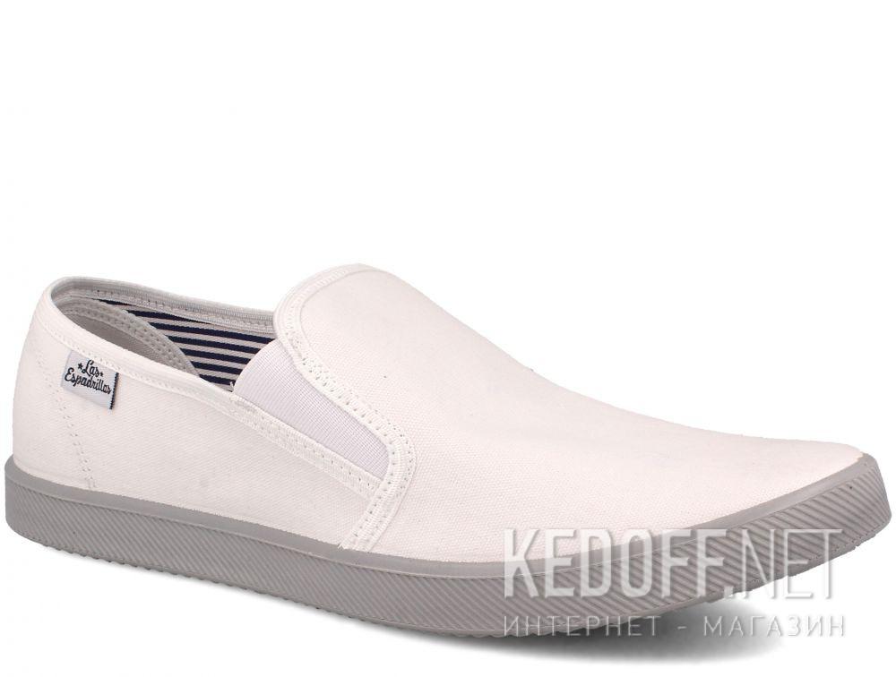 Купить Мужские слипоны Las Espadrillas Eco Soft 6088-13 Lacoste White