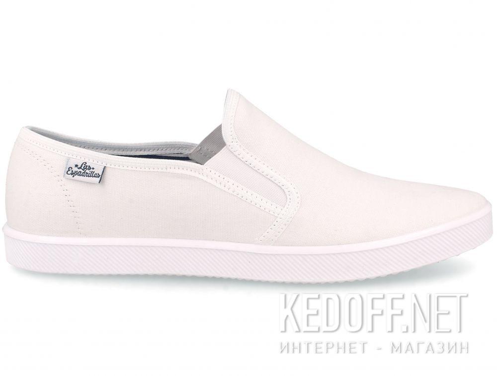 Мужские слипоны Las Espadrillas Eco Soft 6088-1313 Optical White купить Украина