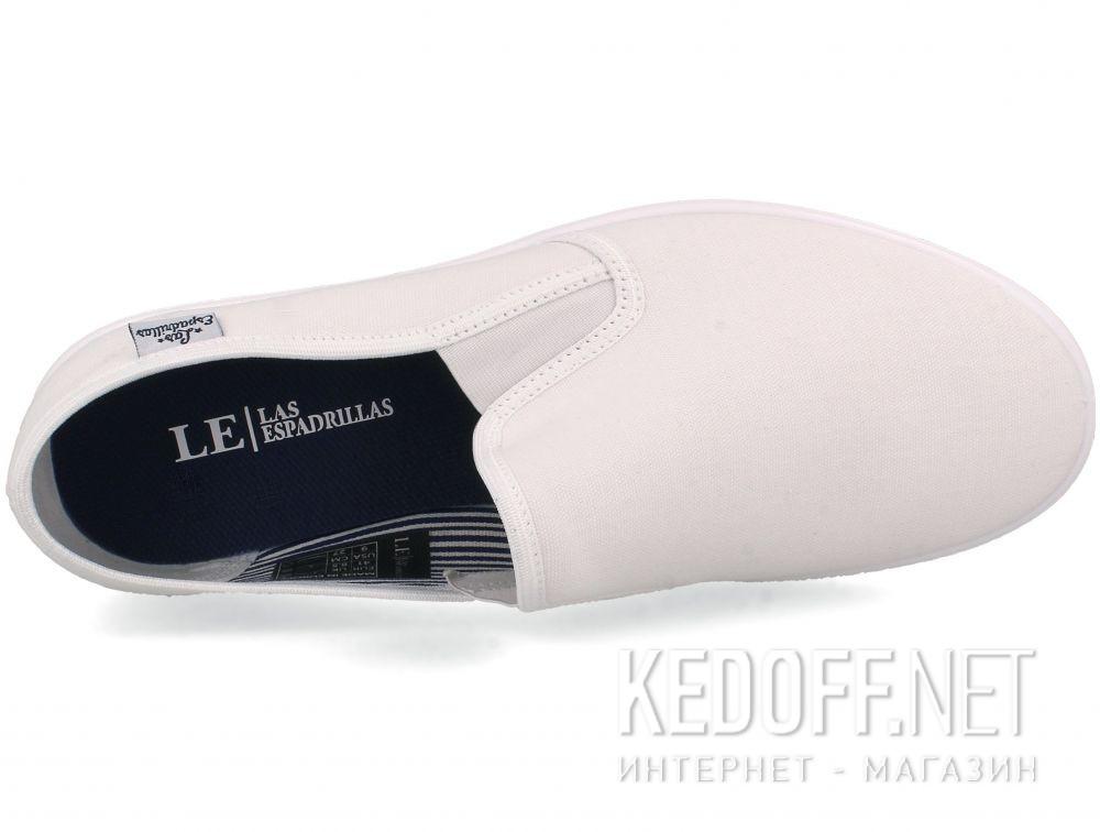 Оригинальные Мужские слипоны Las Espadrillas Eco Soft 6088-1313 Optical White