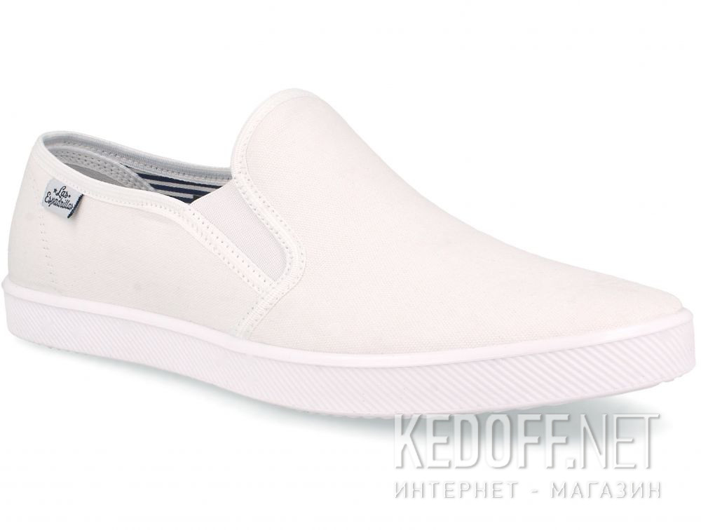 Мужские слипоны Las Espadrillas Eco Soft 6088-1313 Optical White