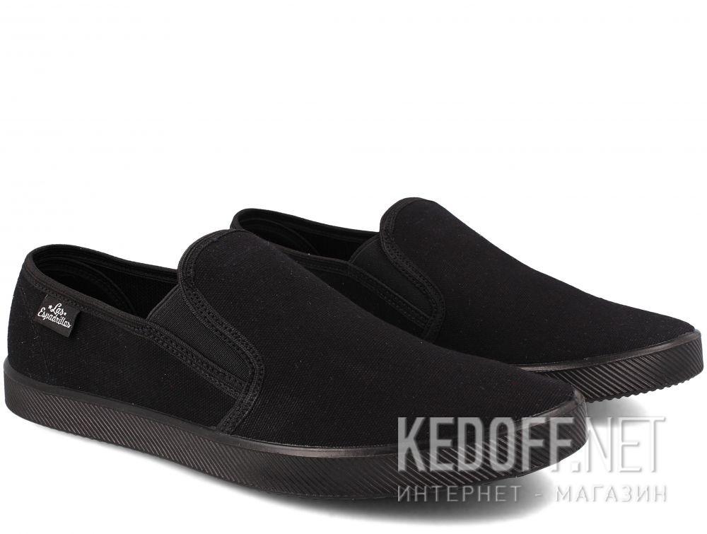 Мужские слипоны Las Espadrillas Eco Soft 6088-27 Lacoste Black купить Украина