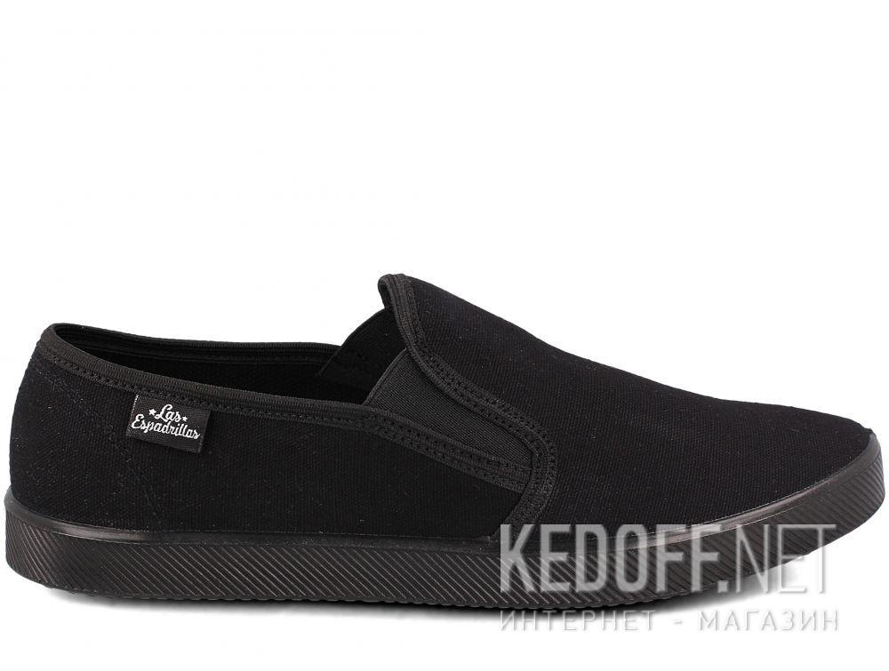 Мужские слипоны Las Espadrillas Eco Soft 6088-27 Lacoste Black купить Киев