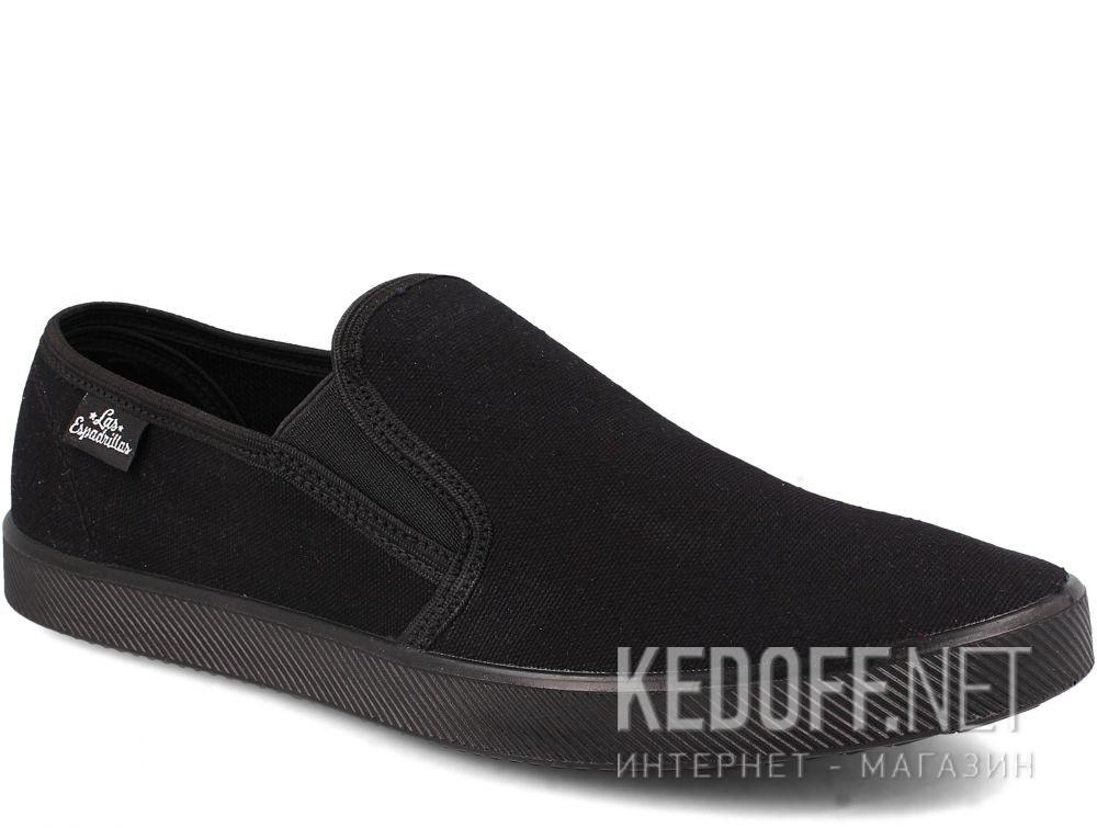 Купить Мужские слипоны Las Espadrillas Eco Soft 6088-27 Lacoste Black