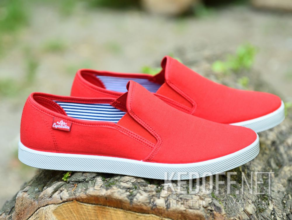 Мужские слипоны Las Espadrillas Eco Soft 6088-4737 Lacoste Red Фото 12