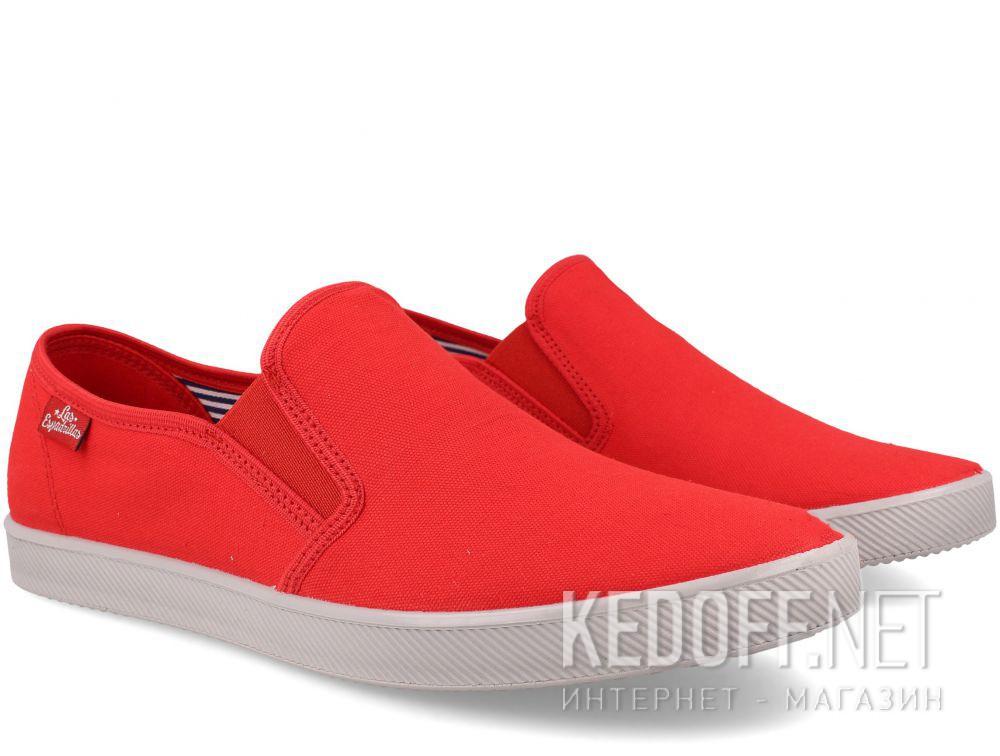 Мужские слипоны Las Espadrillas Eco Soft 6088-4737 Lacoste Red купить Украина