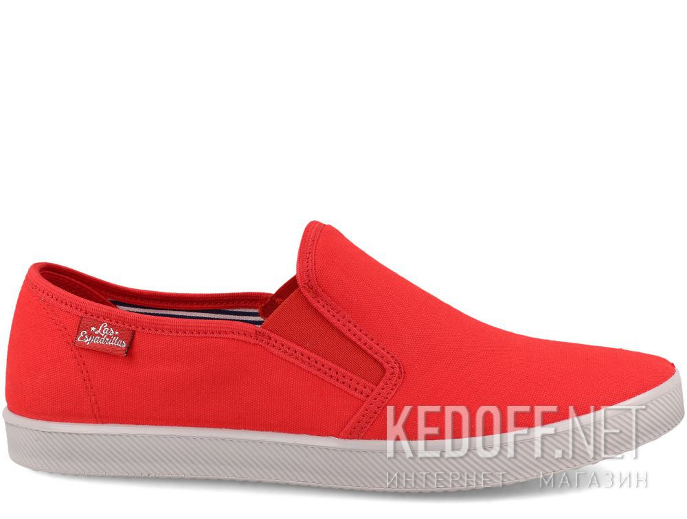 Мужские слипоны Las Espadrillas Eco Soft 6088-4737 Lacoste Red купить Киев