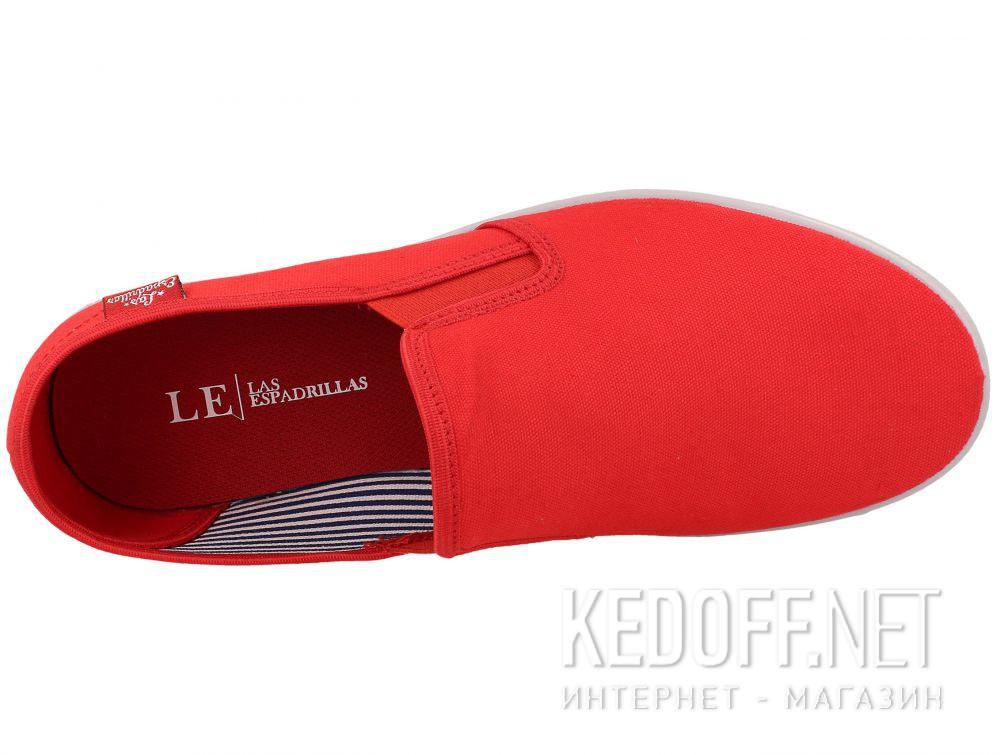 Мужские слипоны Las Espadrillas Eco Soft 6088-4737 Lacoste Red описание
