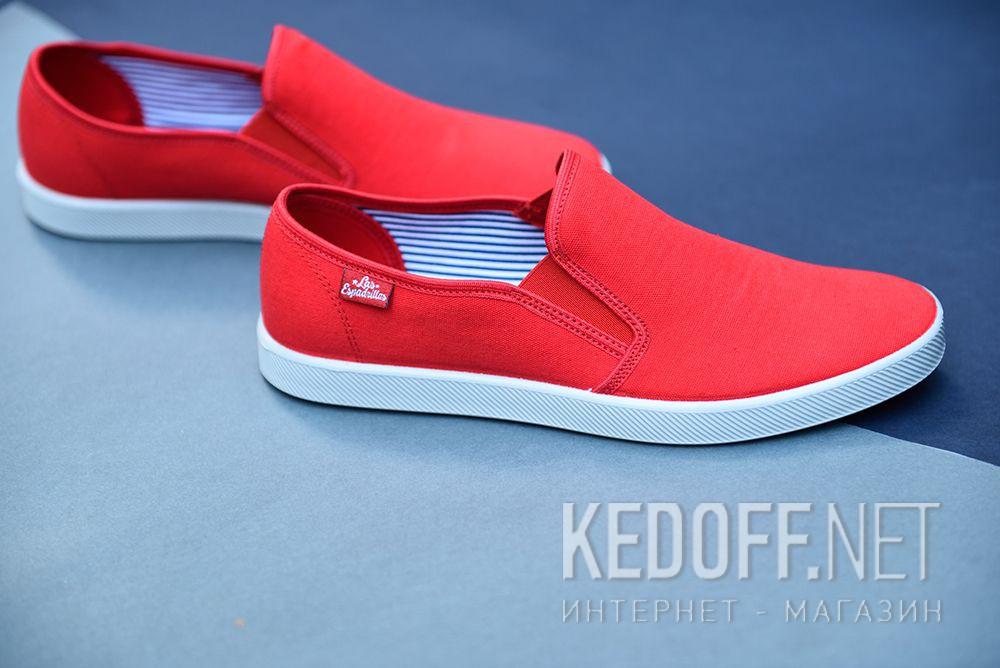 Мужские слипоны Las Espadrillas Eco Soft 6088-4737 Lacoste Red все размеры