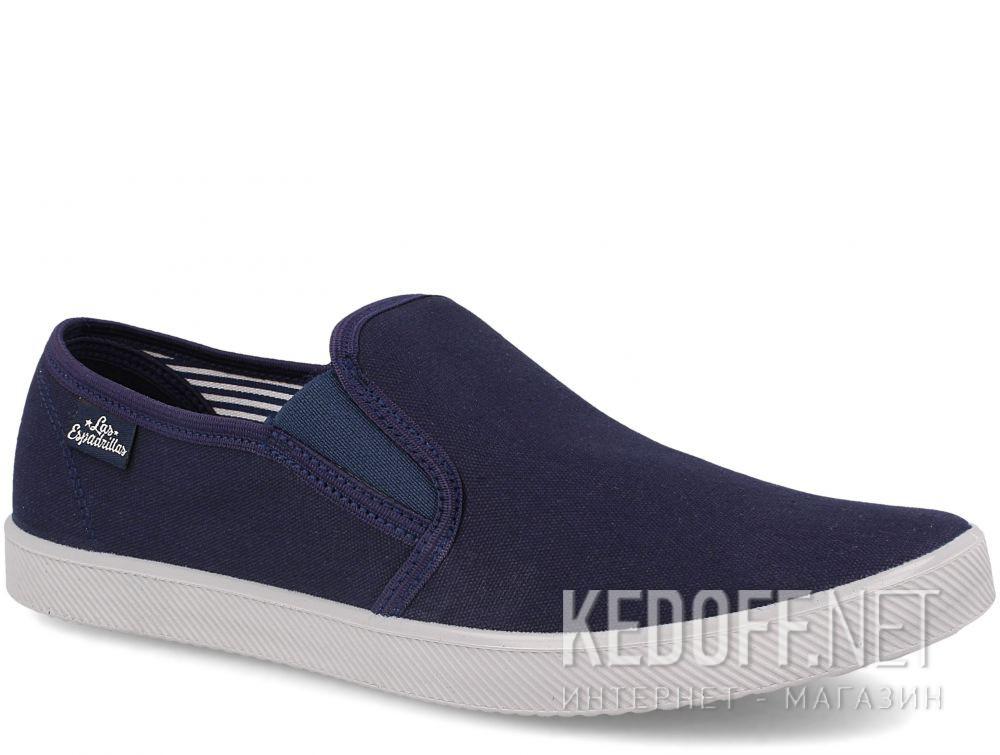 Купить Мужские слипоны Las Espadrillas Navy/Grey 6088-8937