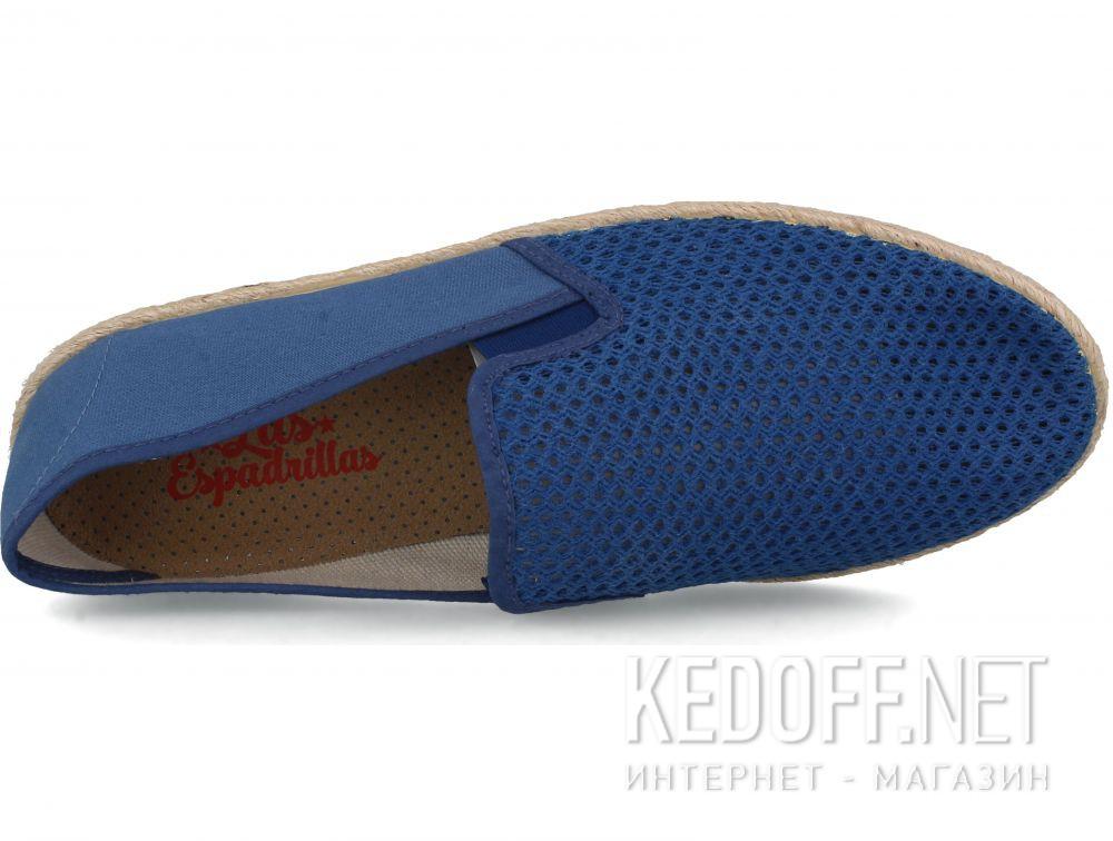 Оригинальные Мужские слипоны Las Espadrillas Azul V6500-42 Made in Spain