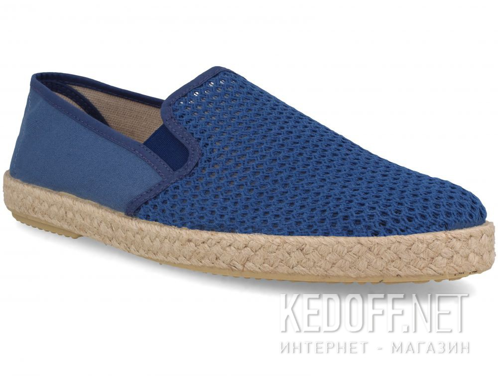 Мужские слипоны Las Espadrillas Azul V6500-42 Made in Spain