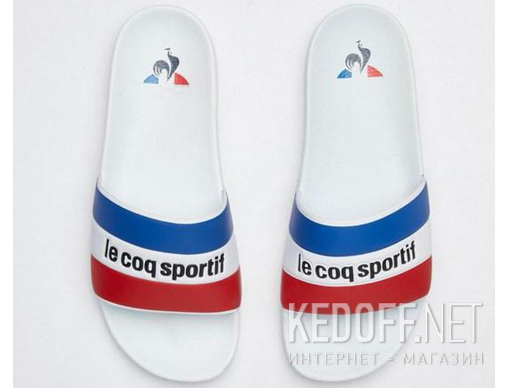 Мужские тапочки Le Coq Sportif TriColor 1911138-LCS White все размеры