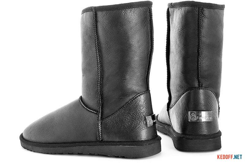 Men ugg boots Forester 13050-2002 Black Leather