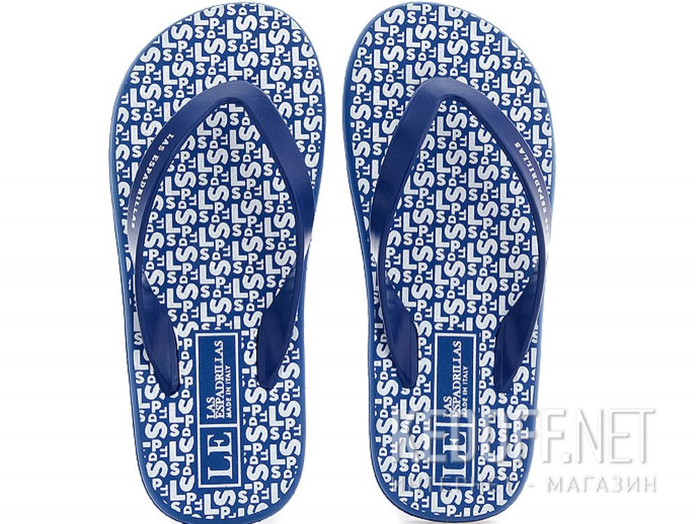 Купить Мужские вьетнамки Las Espadrillas F6574-8913 Made in Italy  (синий)
