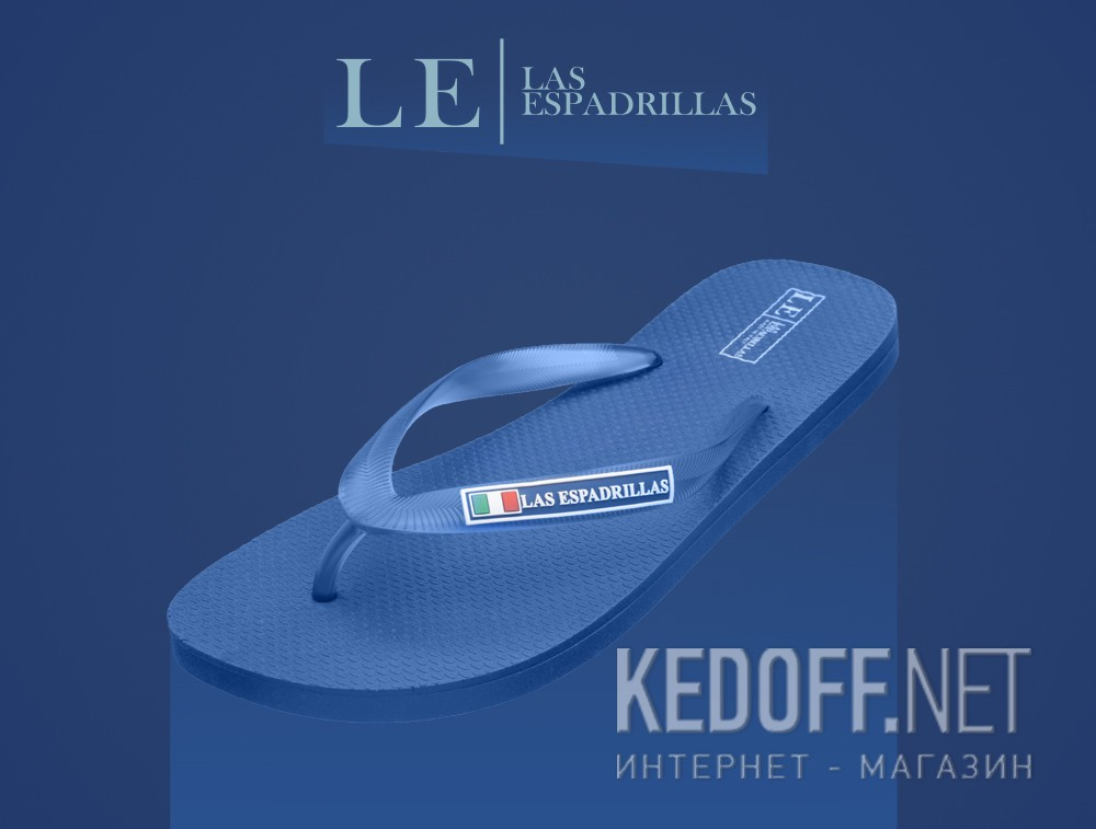 Чоловічі в'єтнамки Las Espadrillas Rimini Uomo Royal 7223-89 Made in Italy