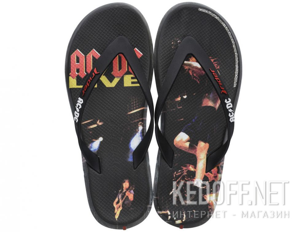 Купить Мужские вьетнамки Rider AC/DC Bands Thong Ad 82799-21191