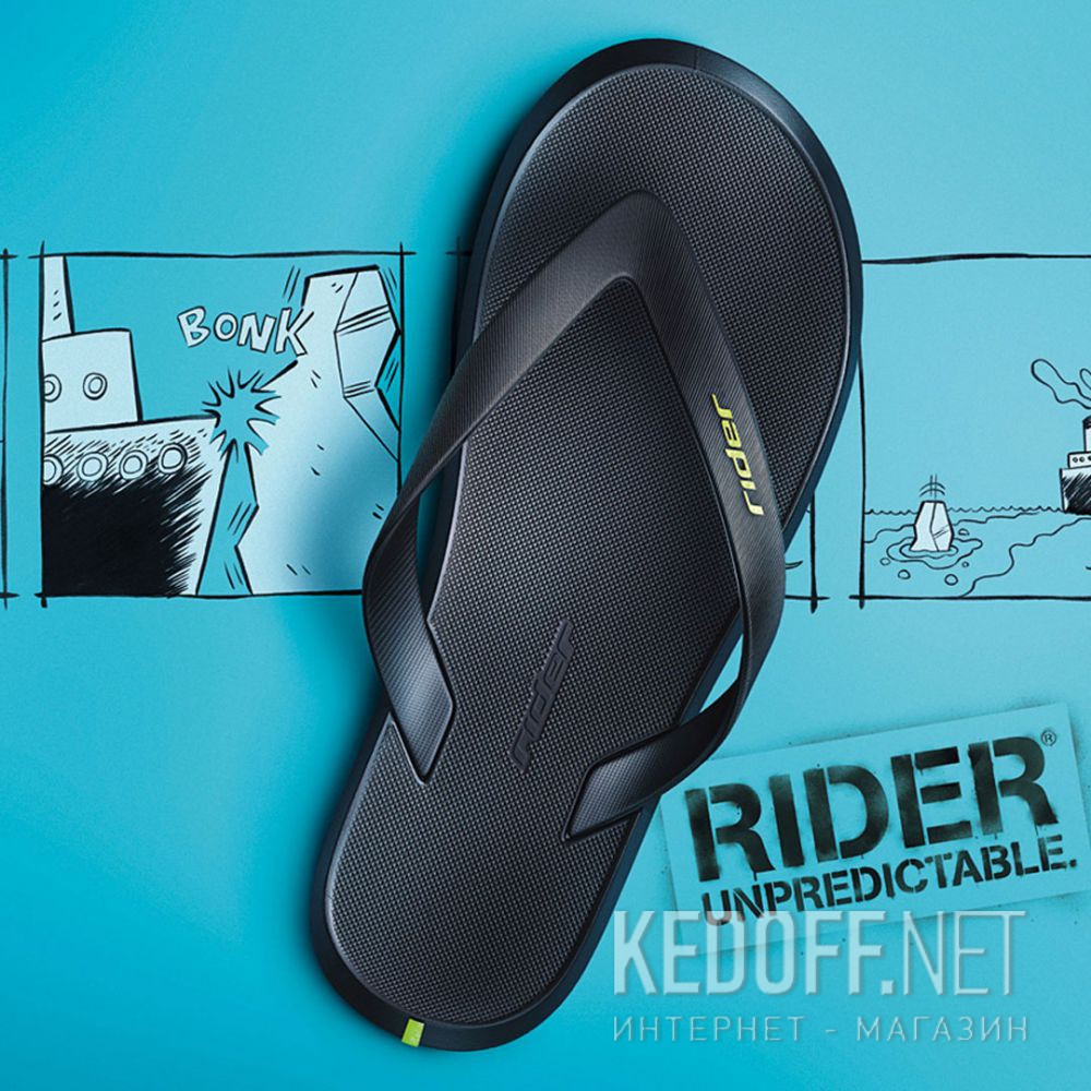 Мужские вьетнамки Rider R1 Ad 10594-20780 Made in Brasil описание