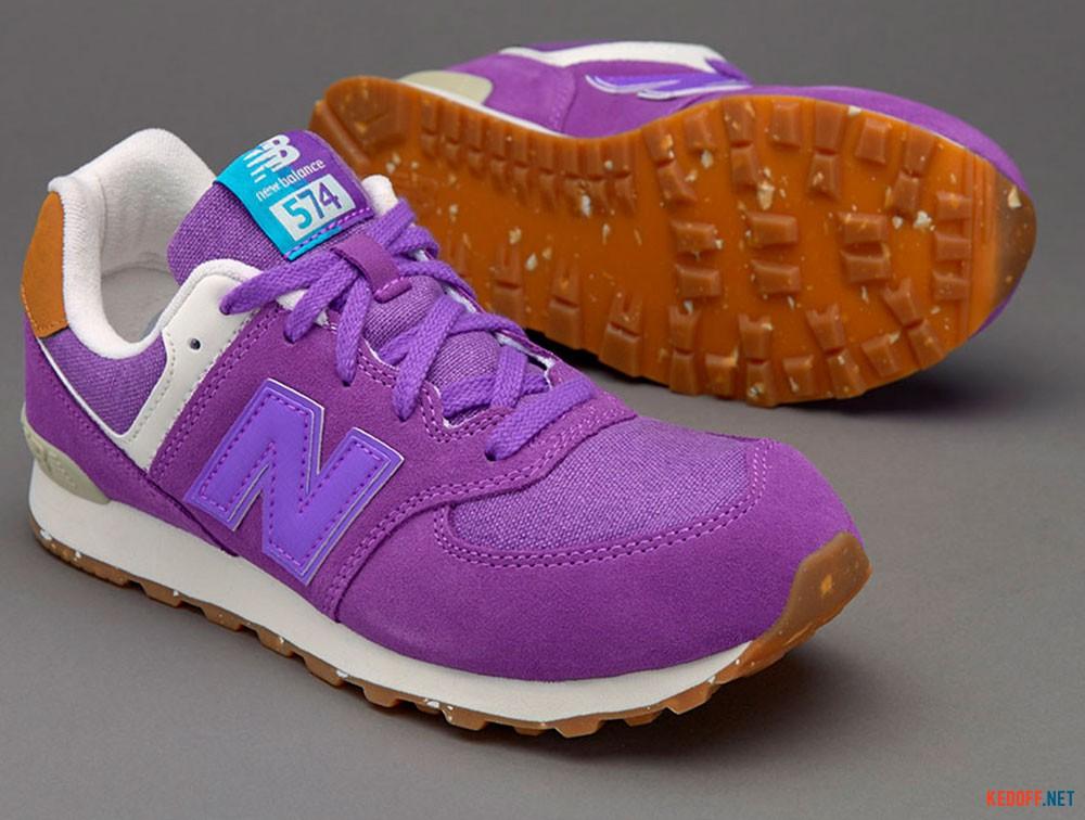 Спортивная обувь New Balance KL574EUG унисекс   (фиолетовый) все размеры