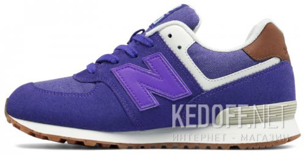 Оригинальные Спортивная обувь New Balance KL574EUG унисекс   (фиолетовый)
