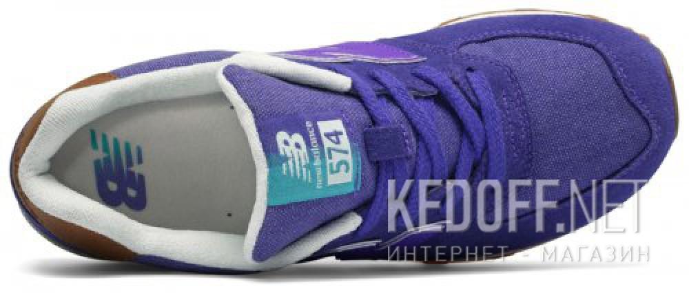Спортивная обувь New Balance KL574EUG унисекс   (фиолетовый) описание