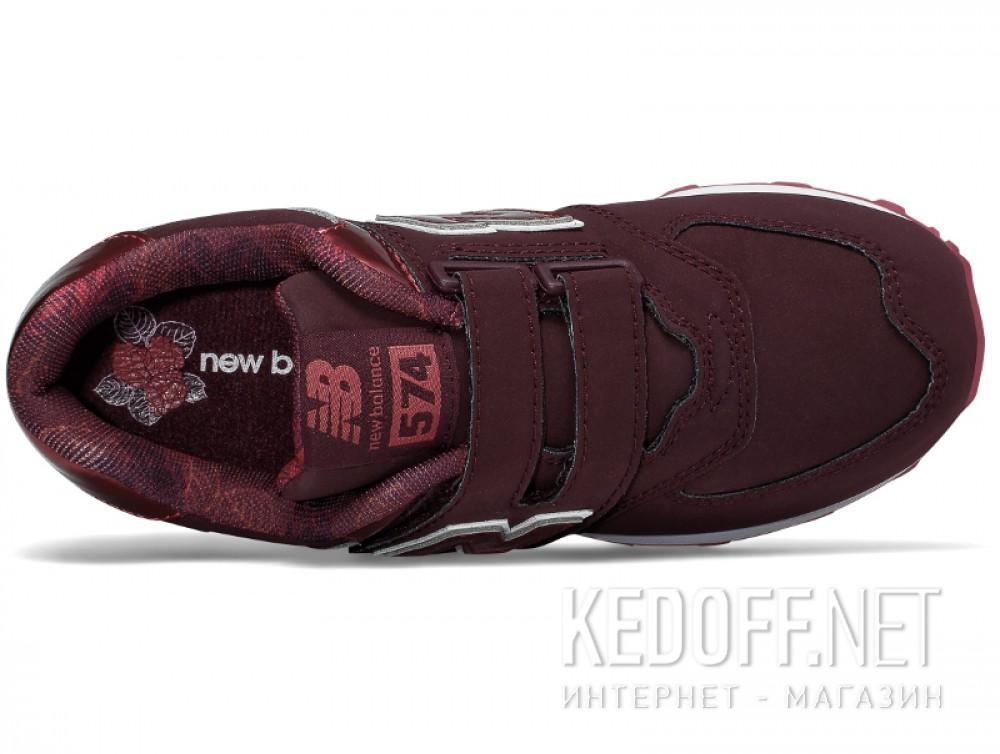 Кроссовки New Balance KV574F2Y унисекс   (бордовый) описание