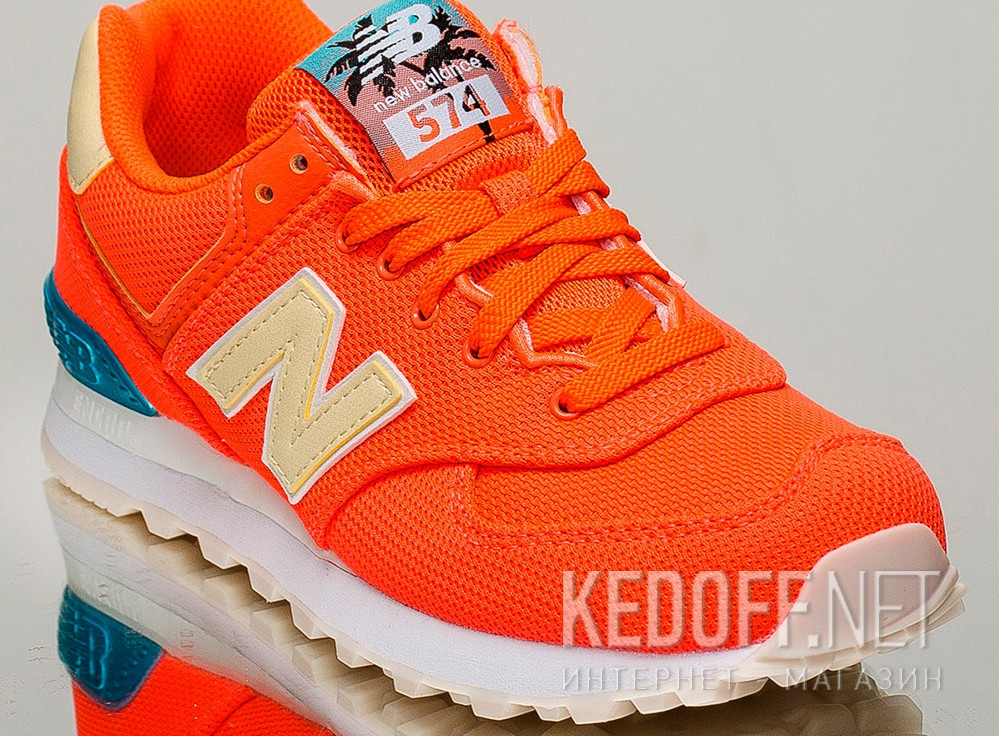 Цены на New Balance Miami Palms Wl574mie  (оранжевый)