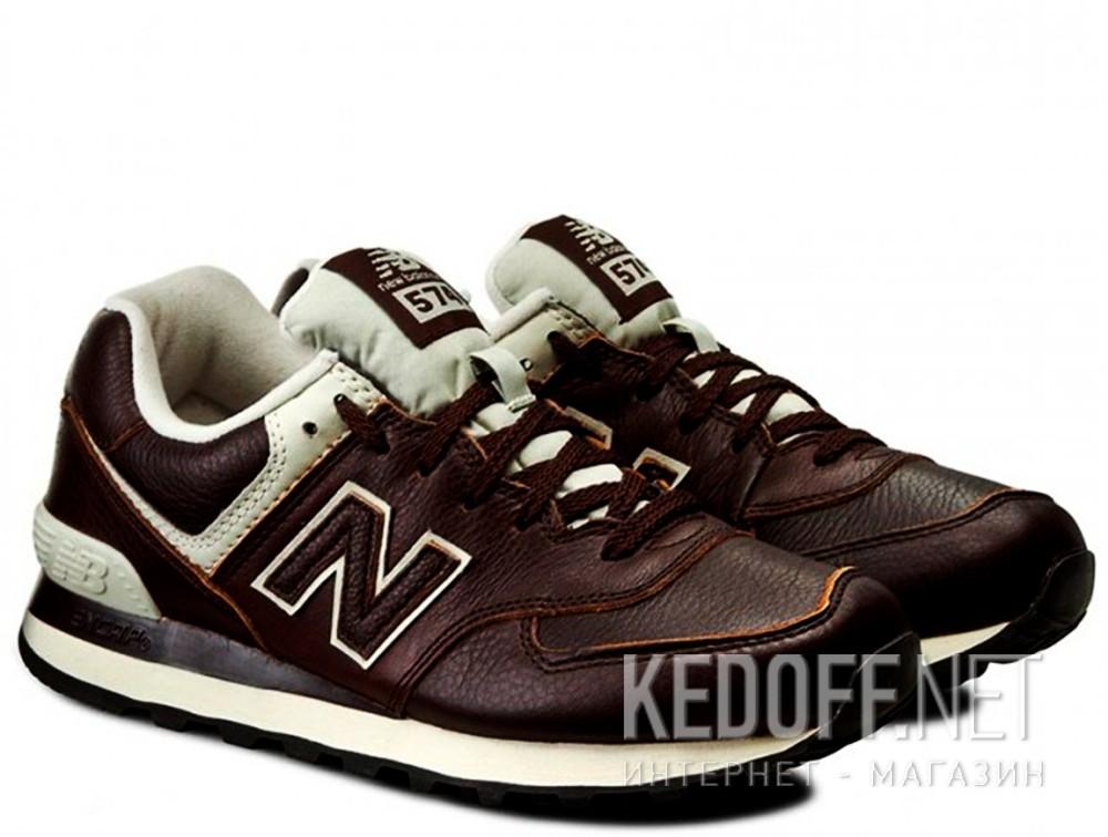 Мужские кроссовки New Balance ML574LUA   (тёмно-коричневый) купить Украина