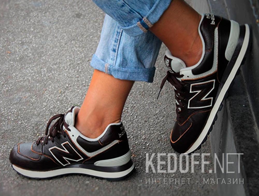 Мужские кроссовки New Balance ML574LUA   (тёмно-коричневый) описание