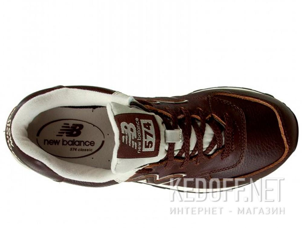 Мужские кроссовки New Balance ML574LUA   (тёмно-коричневый) купить Киев