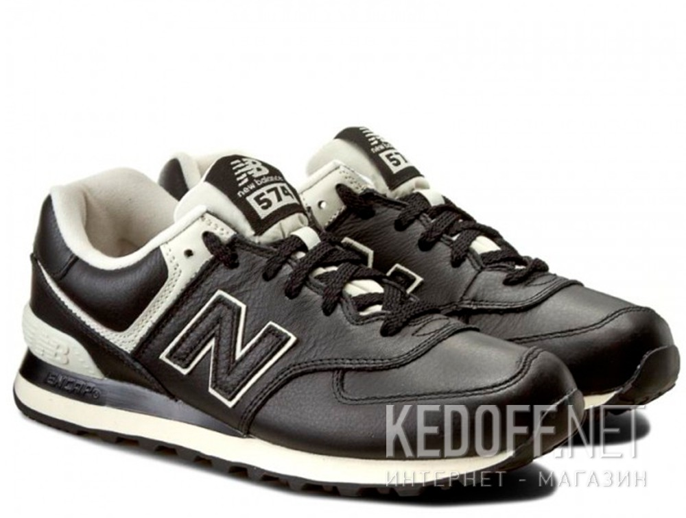 Men's leather sneakers New Balance ML574LUC (Black)