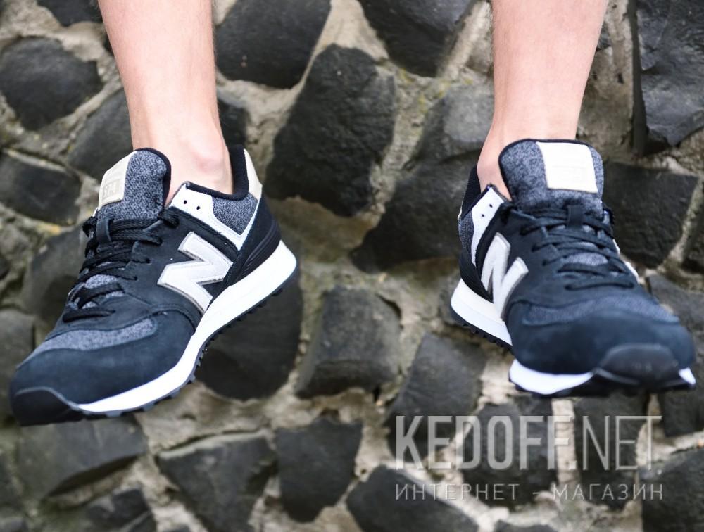 Мужские кроссовки New Balance ML574VAI   (чёрный) все размеры