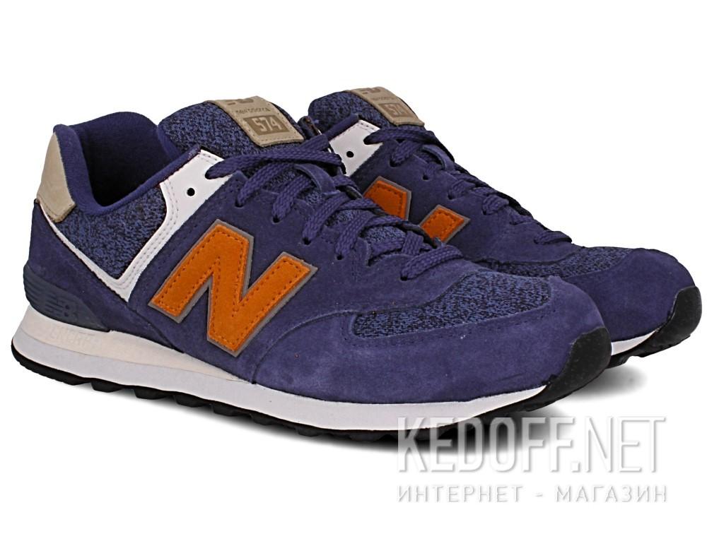 Оригинальные Кроссовки New Balance ML574VAK унисекс   (синий/серый)