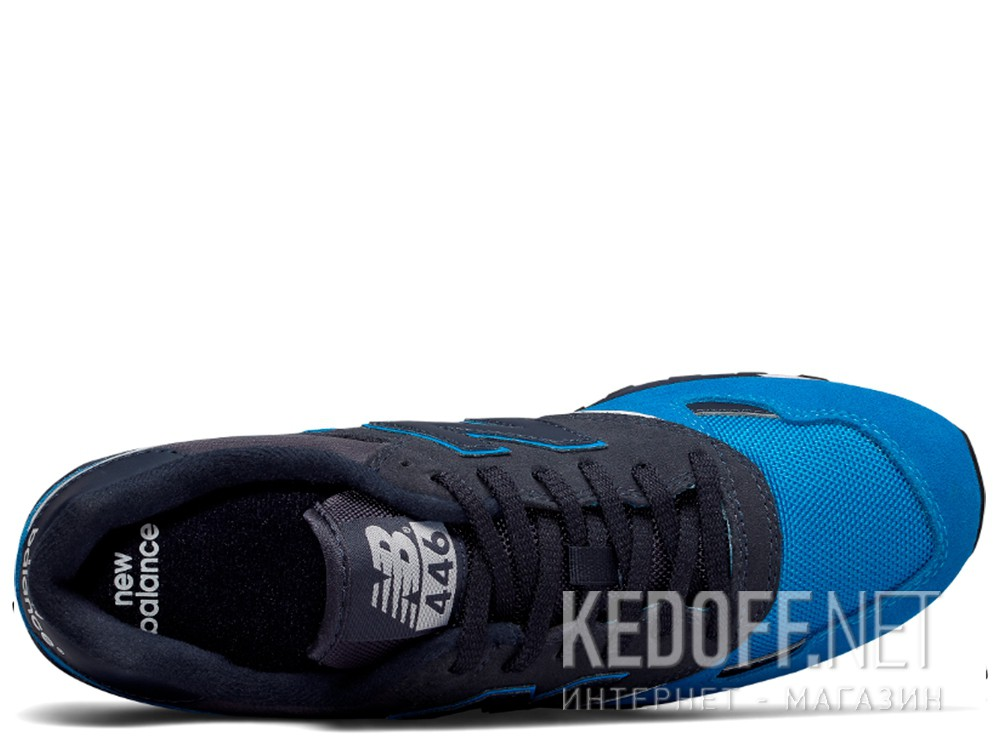 Кроссовки New Balance U446LBW унисекс   (тёмно-синий/голубой/синий) описание