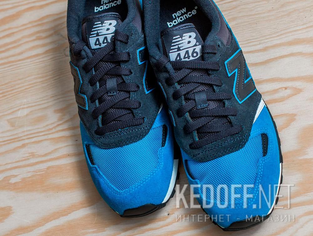 Кроссовки New Balance U446LBW унисекс   (тёмно-синий/голубой/синий) все размеры
