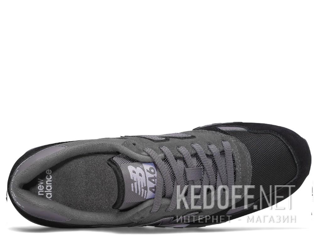 Оригинальные Кроссовки New Balance U446LGK унисекс   (тёмно-серый/чёрный/серый)