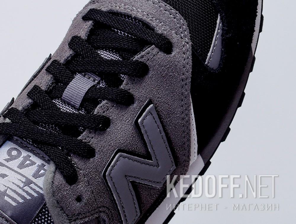 Кроссовки New Balance U446LGK унисекс   (тёмно-серый/чёрный/серый) все размеры